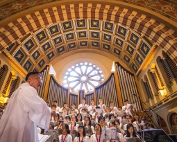 Pope Francesco visit Thailand. Consoli Pipe Organ during the Holy Mass in Assumption Cathedral